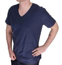 BRAND NEW DIESEL MEN'S PREMIUM COTTON GRAPHIC TOSSIK V-NECK T-SHIRT BLUE