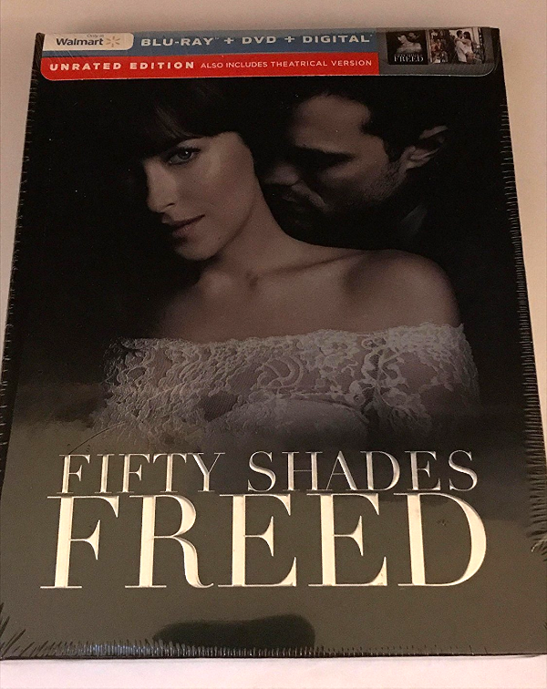 Fifty Shades Freed Unrated Walmart Exclusive [Blu-ray+DVD+Digital, 2018]