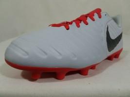 Nike Tiempo Legend 7 JR FG Soccer Cleats Sz 4.5Y Pure Platinum Rugby AO2300-060 - $19.99