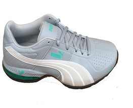 Puma Women's Cell Surin Quarry Gray White Pool Green Atheletic Sneakers (7) - $59.50