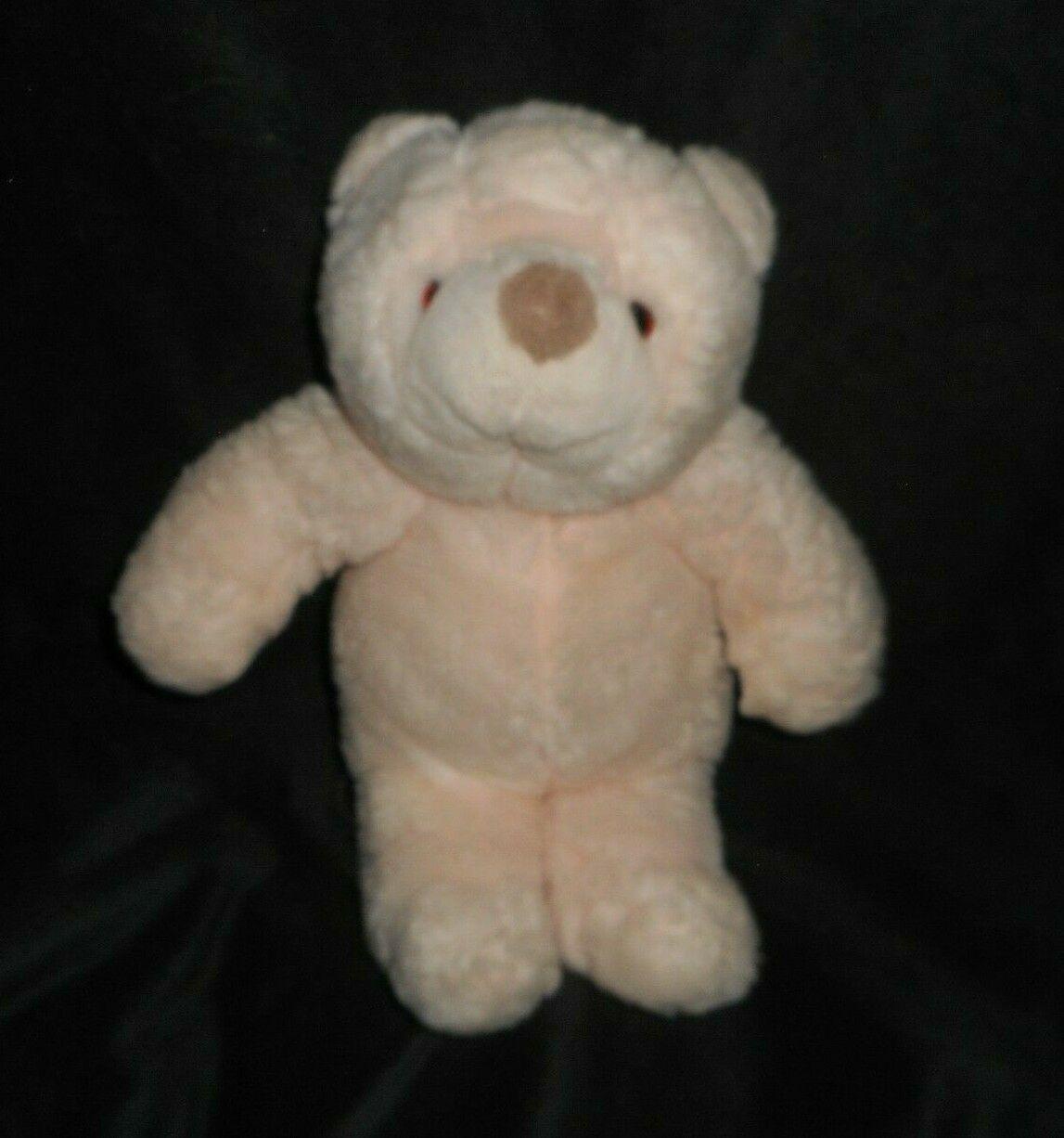 Plush Animal 10-in Snuffles Teddy Bear Rose Pink Sitting GUND