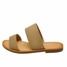 Soda Allie-S Natural Women's Open Toe Double Strap Slide Sandals - $20.95+