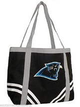 Carolina Panthers NFL Canvas Black Bag Purse Tote Beach Handbag Hobo Lit... - $12.99