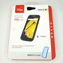 Motorola moto e XT1528 Black Verizon Prepaid Cell Phone Sealed - $57.56