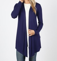 Navy Open Cardigan, Lightweight Drapey Cardigan, Navy Open Cardigan, Womens