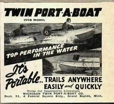 1948 Print Ad Twin-Port-A-Boat Made in Grand Rapids,MIchigan - $8.28