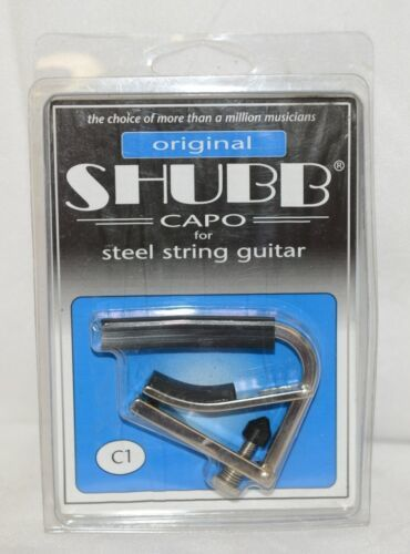 Shubb C1 Capo For Steel String Guitar Fits Most Acoustics And Electrics