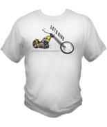 Motorcycle Shirt Lets Ride Sturgis Chopper Harley Bike Themed Mens White... - $19.99