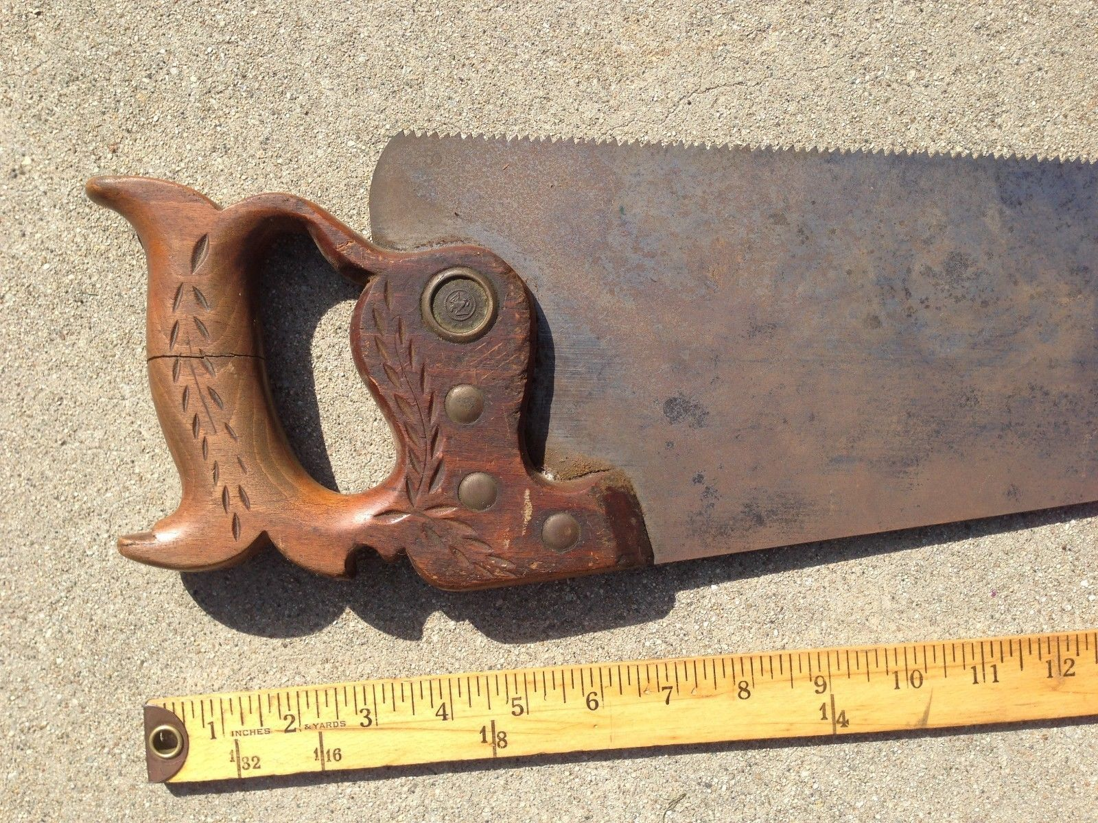 ANTIQUE Warranted Superior Hand Saw Collectible