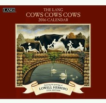 Lang Cows Cows Cows 2016 Wall Calendar by Lowell Herrero January 2016 to... - $9.95