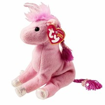 Fairytale Unicorn Pink Horse Ty Beanie Baby Mint Condition with Tags - $9.85
