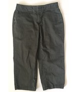 Eddie Bauer Legend Wash Dark Gray Capris Cropped Pants Sz 2 Back Pockets... - $6.92
