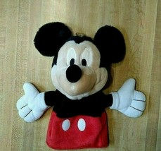 Disney Store Exclusive Hand Puppet Talking Mickey Mouse Plush Pretend To... - $12.17