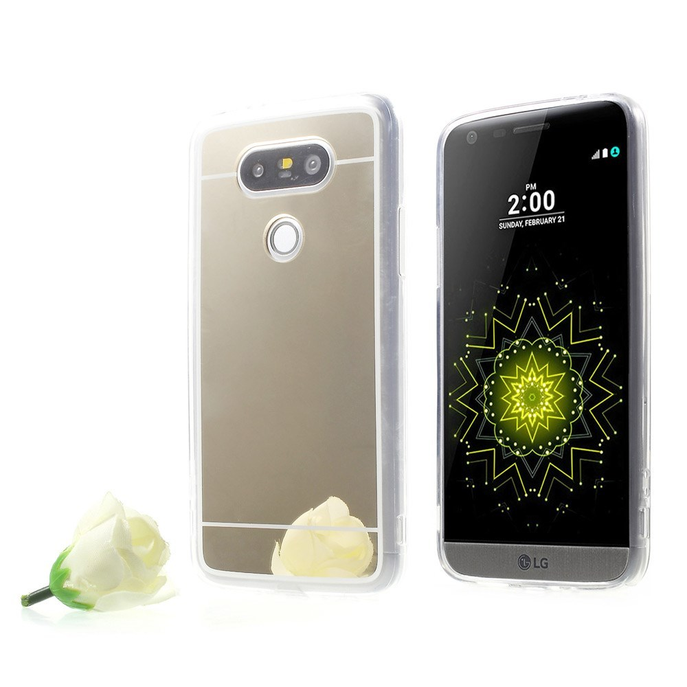 Plated mirror like pc tpu hybrid phone case for lg g5 for Mirror your phone