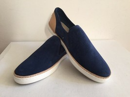 UGG ADLEY PERF MARINO BLUE SLIP ON LEATHER SNEAKERS US 9.5 / EU 40.5 / U... - $72.93
