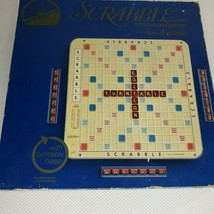Scrabble Crossword Deluxe Edition Turn Table Rotating Board Game Night C... - $48.48