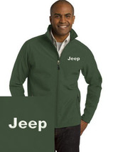 Jeep Green Embroidered Port Authority Core Soft Shell Unisex Jacket NEW - $39.99