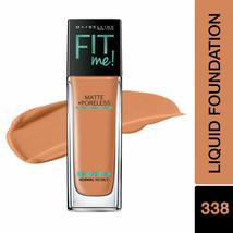 Maybelline Fit Me 338 Spicy Brown Matte & Poreless Liquid Foundation 1 f... - $9.74