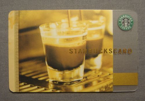 STARBUCKS CARD 2006 EXPRESSO SHOTS THEME GIFT CARD NO BALANCE / RELOADABLE NEW