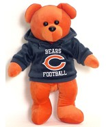 "CHICAGO BEARS HOODIE BEAR 15"" PLUSH NFL NEW FOOTBALL - $15.64"