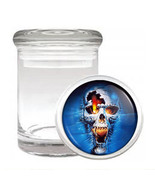 Skull Odorless Air Tight Medical Glass Jar Container Design-005 - $9.75