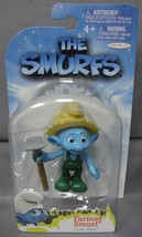 The Smurfs Grab 'Ems Farmer Smurf Toy Figure Cake Topper Jakks Pacific Ages 4+ - $3.88