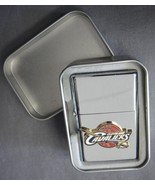 CLEVELAND CAVALIERS NBA RAISED TEAM LOGO REFILLABLE SILVER OIL LIGHTER W... - $7.79