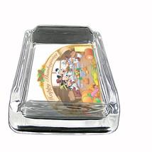 Glass Square Ashtray Thanksgiving Design-005 - $6.23