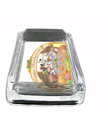 Glass Square Ashtray Thanksgiving Design-005 - $6.23
