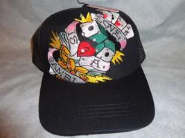 LOVE IS A GAMBLE WITH RHINSTONES ADJUSTABLE BASEBALL CAP BURDENED NEW - $9.75
