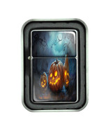 Windproof Refillable Oil Lighter with Gift Box Halloween Design-009 - $4.66