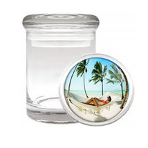 Odorless Air Tight Medical Glass Jar Ocean Views Design-007 - $7.80