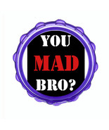"2.5"" Hard Plastic Sharp Tooth Acrylic Grinder You Mad Bro Design-007 - $3.88"