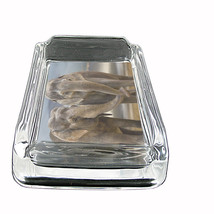 Glass Square Ashtray Elephant Design-005 Custom Natural Beauty Animals N... - $6.23