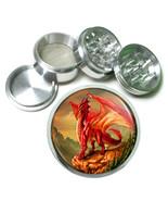 "2.5"" 4PC Aluminum Sifter Magnetic Herb Grinder Dragon Design-003 Custom ... - $7.80"