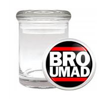Odorless Air Tight Medical Glass Jar You Mad Bro Design-004 - $12.95