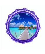 "2.5"" Hard Plastic Sharp Tooth Acrylic Grinder Ocean Views Design-001 - $3.88"