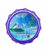 "2.5"" Hard Plastic Sharp Tooth Acrylic Grinder Ocean Views Design-007 - $3.88"