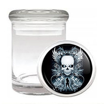 Skull Odorless Air Tight Medical Glass Jar Container Design-003 - $12.95