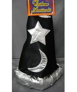 MAGICIAN / WIZARD FOAM HAT BLACK & SILVER HALLOWEEN COSTUME ACCESSORY CH... - $10.15