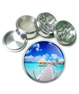 "2.5"" 4PC Aluminum Sifter Magnetic Herb Grinder Ocean Views Design-001 - $7.80"