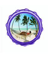 "2.5"" Hard Plastic Sharp Tooth Acrylic Grinder Ocean Views Design-008 - $3.88"