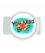 Money Bills Card Metal Holder Clip Round You Mad Bro Design-005 - $5.45