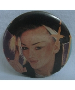 Pinback Button Boy George Culture Club 1980s Pop Glam Music Vintage Pin ... - $8.99
