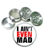 "2.5"" 4PC Aluminum Sifter Magnetic Herb Grinder You Mad Bro Design-009 - $7.80"