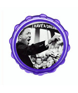 "2.5"" Hard Plastic Sharp Tooth Acrylic Grinder Martin Luther King Jr Desi... - $3.88"