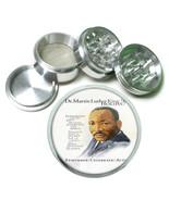 """2.5"""" 4PC Aluminum Sifter Magnetic Herb Grinder Martin Luther King Jr Des... - $7.80"""