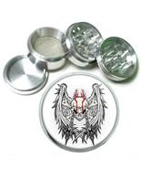 """63mm 2.5"""" 4 Pc Aluminum Sifter Magnetic Herb Grinder Skull Design-019 - $9.75"""