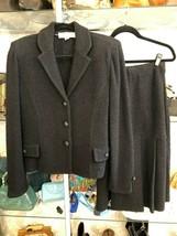 ST. JOHN COUTURE Black Skirt Suit Sz 6 F03 GRP 3 - $360.09