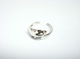 925 Sterling Silver Cute Dolphin Adjustable Toe Ring - $9.65
